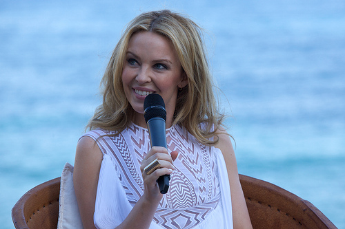 Kylie Minogue due to our production in Ibiza
